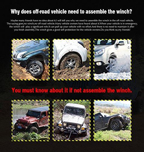 12V 4000lbs ATV Electric Recovery Winch Kit, Wireless Remote Control 12V 4WD ATV UTV Trailer Truck SUV Car by Estink (Image #4)