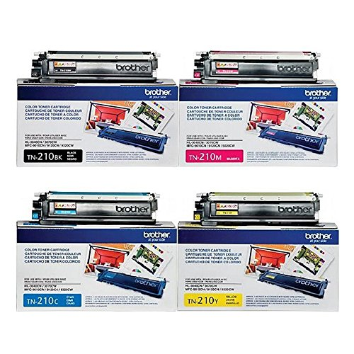 Brother HL3045CN Toner Set Black 2200/Color 1400 Yield (Brother Mfc9325 Toner)