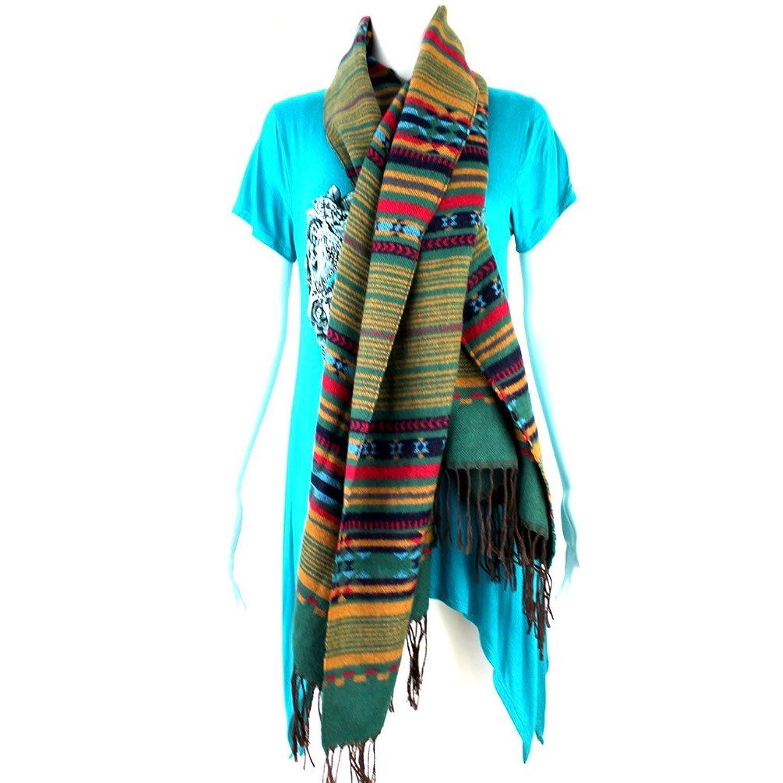 Montana West Women Scarf Western Tribal Aztec Pattern Design American Bling Turquoise