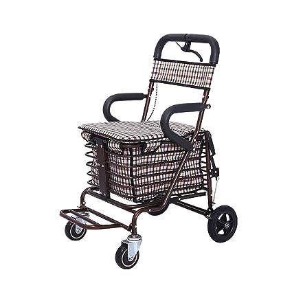 HCC & carrito andador plegable portátil de aleación de aluminio ligero con la edad carrito de