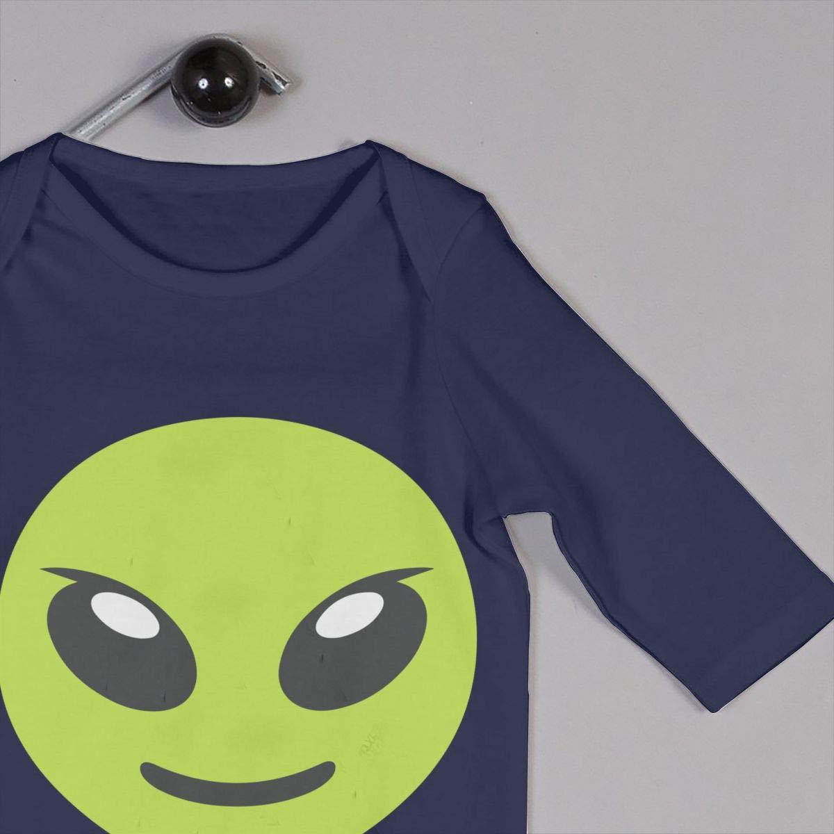 Mri-le1 Baby Boy Long Sleeved Coveralls Green Alien Kid Pajamas
