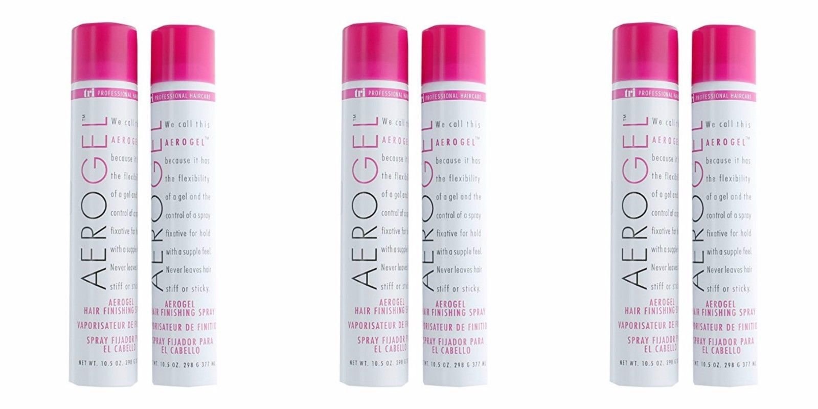 Tri Aerogel Hair Finishing Spray 10.5 oz - 6 cans