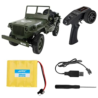 Nicemeet Convertible Remote Control Toy Car, Light Jeep Four-Wheel Drive Off-Road 2.4G Climbing Car Q65 1:10 (3 Colors): Home & Kitchen