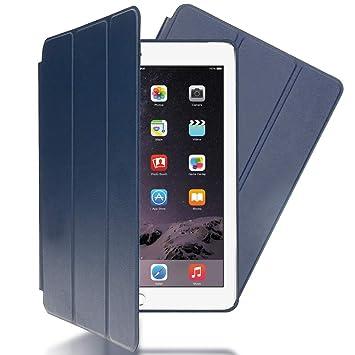 NALIA Funda Smart-Case Compatible con iPad Air 2, Carcasa Ultra-Fina Protectora Plegable con Cuero Sintetico Vegan, Tablet Movil Bumper Cover Doble ...