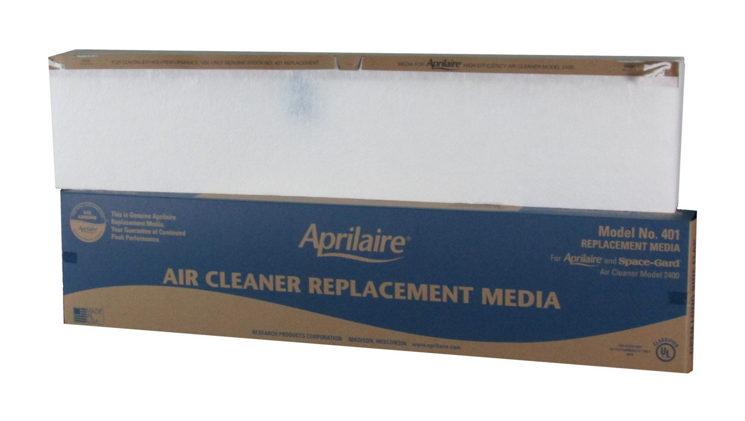 Pack of 2 Aprilaire 401 Replacement Filter for Air Purifier 2400 MERV 10