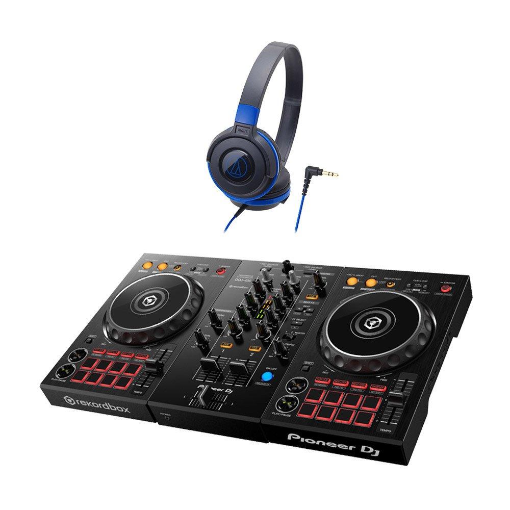 Pioneer DDJ-400 デジタルDJ初心者セットLite (ブラックブルー) [本体+rekordbox DJ+ヘッドホン]【テクノハウスにオススメ】 パイオニアB01BIUO7YAヘッドホンセットBBLヘッドホンセットBBL-