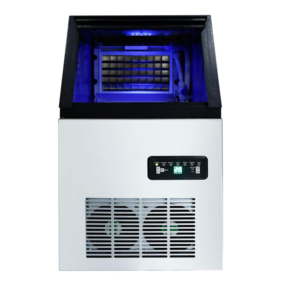 Tengchang Professional Commercial Ice Cube Maker Machine Ultraviolet Sterilizer 100LBS//24H Automatic Bulit-in