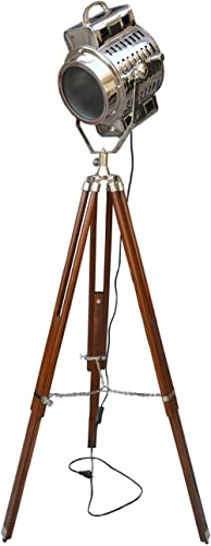 Marien Collecatable Industrial Hollywood Nautical Spot Searchlight Studio Floor Lamp W/Tripod Stand