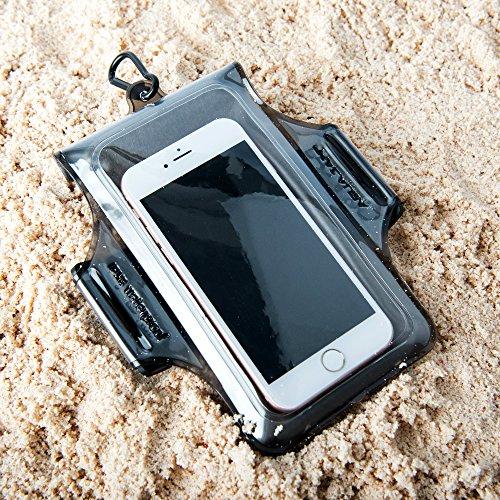 Aquajam IPX8custodia trasparente con fascia per braccio per nuotare, impermeabile fino a 10m, touch responsive per iPhone 7/7Plus/6/6S/6s Plus/Samsung Galaxy S6/S7/Edge e altri smartphone–traspar