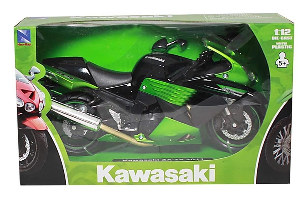 Verde 1 Pezzo Newray 57433 Modelli//Colori Assortiti Scala 1:12 Kawasaki ZX-14 Ninja Die Cast