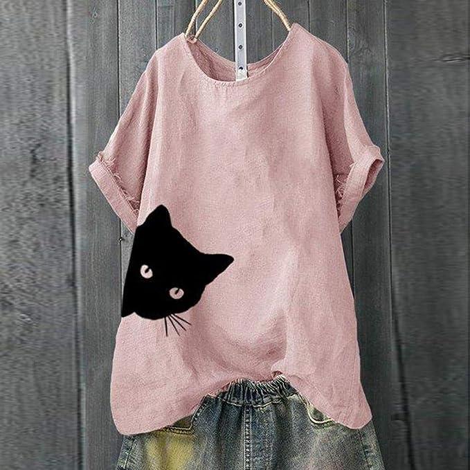 Amazon.com: NANTE Top Casual Suelto Blusa de las Mujeres ...