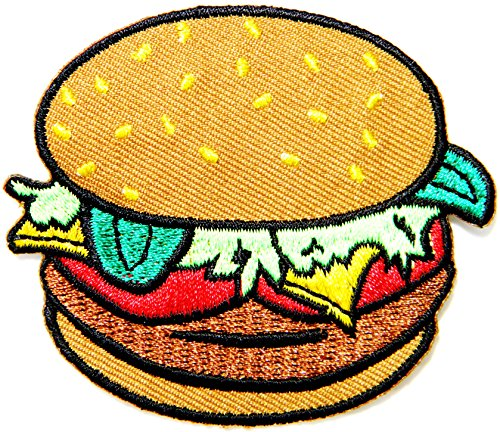 [Hamberger Cooking Chef Kid Baby Jacket T-shirt Patch Sew Iron on Embroidered Applique Sign Badge Costume by] (Hamburger Halloween Costume Baby)
