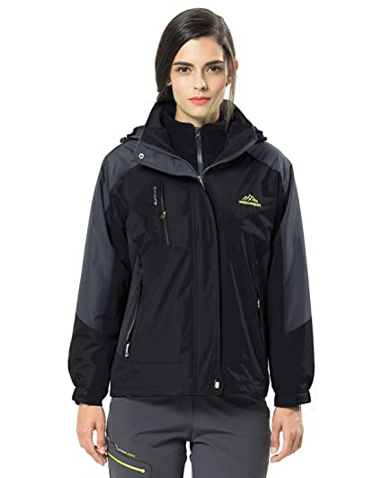 LASIUMIAT Waterproof Ski Jacket 3-in-1 Women s Outdoor Snowboarding  Mountain Windproof Fleece Warm 7733e70c2
