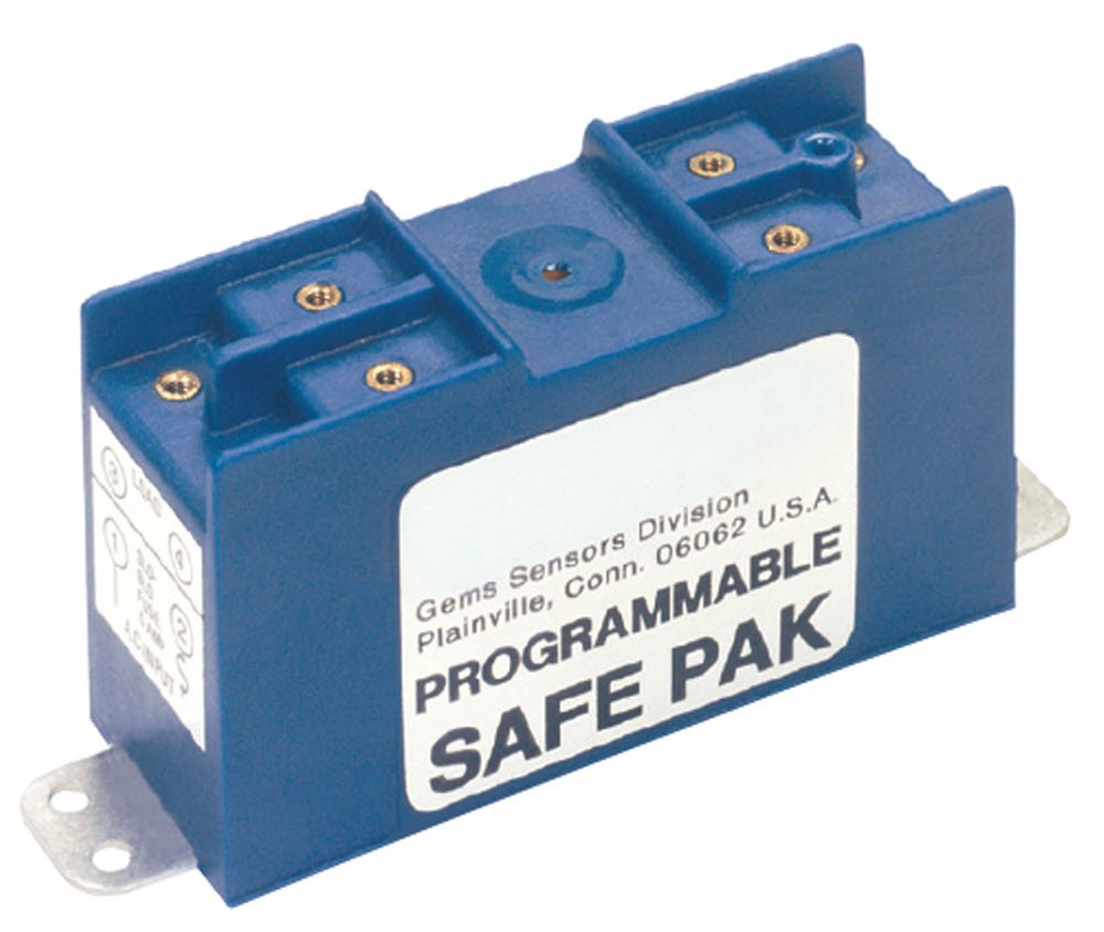 Gems Sensors 54820 Programmable Safe-Pak Relay, 95 to 125 VAC Voltage, 2A Current