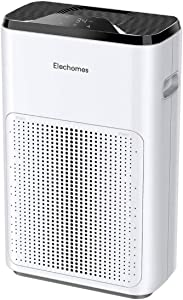 Elechomes Air Purifier, KJ200-A3B True HEPA H13 Air Purifiers for Home Bedroom Office 323sq.ft, 22dB Ultra Quiet Air Cleaner for Pet Dander Smoke Pollen, Smart Air Quality Indicator Light