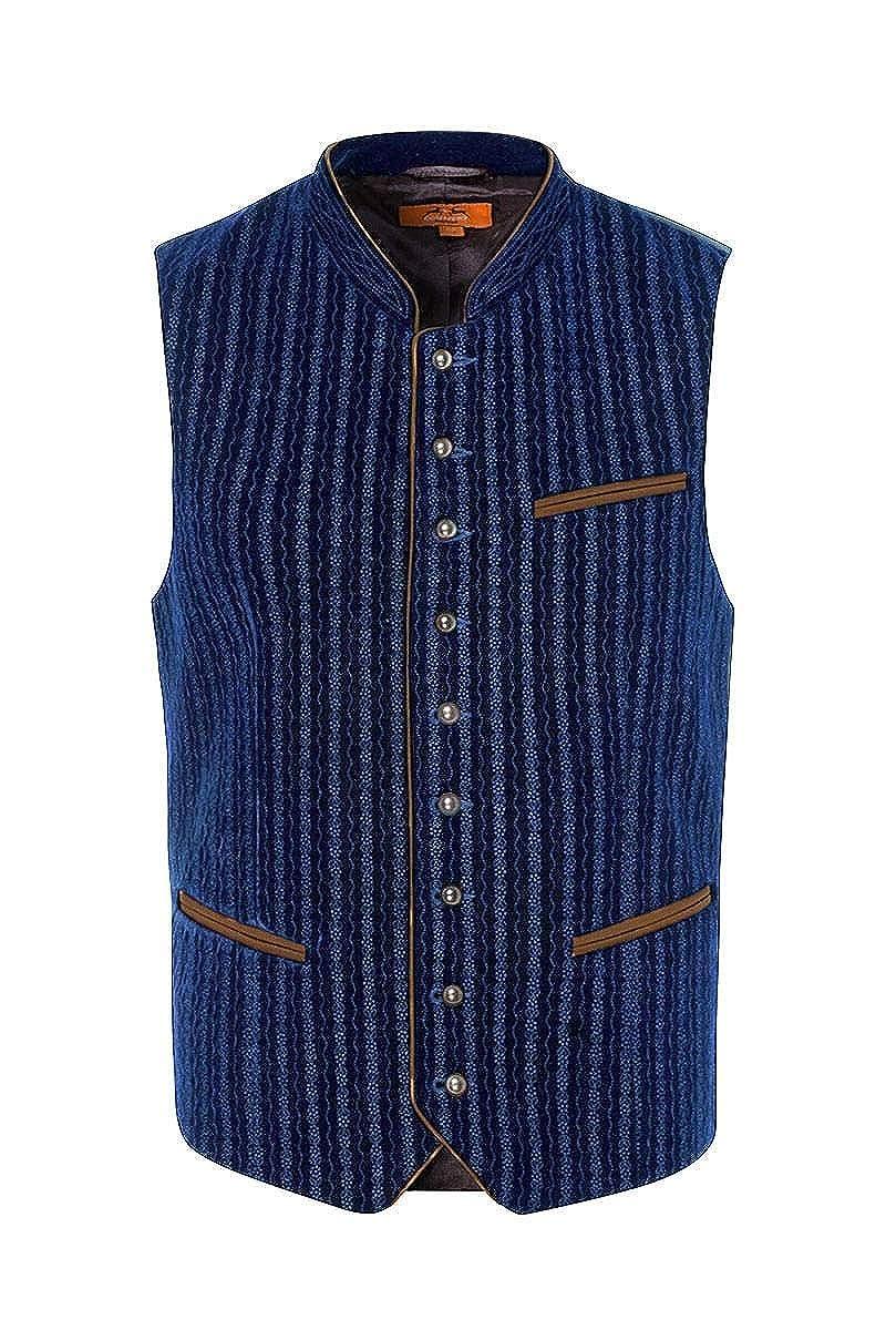 02d73a07ffc72f MADDOX Moser Trachten Trachtenweste Blau Samt Bestickt Edgar 005724,  Material Polyester, Stehkragen