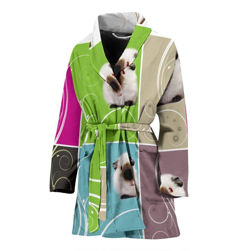 Dog on designs Amazing Himalayan Guinea Pig Print Women's Bath Robe