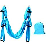 Aerial Yoga Swing, X-CAT Ultra Strong Antigravity Yoga Hammock with 210T Parachute Fabric and Padded Foam Handles for Air Yoga Inversion Exercises (Mounting Accessories Not Included)