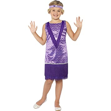 Childrens Charleston Dress Costume With Headband Retro Vintage 1920s 1930s Flapper Child Fancy