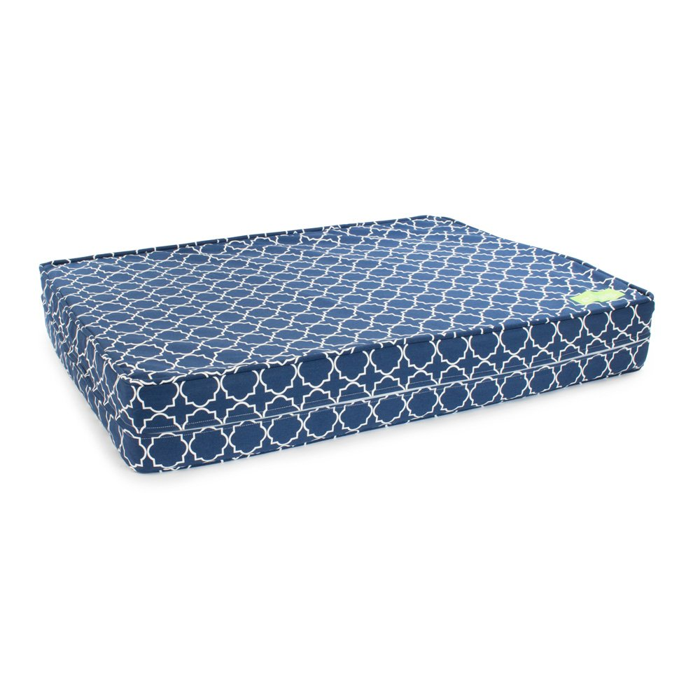 eLuxurySupply Dog Bed Cover Replacement | 100% Cotton Canvas - Zipped for Easy Removal | Washable, Preshrunk & Durable | Fits Orthopedic Gel Infused Memory Foam Dog Bed| Small Medium & Large