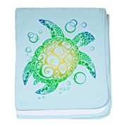 CafePress - Sea Turtle - Baby Blanket, Super Soft Newborn Swaddle
