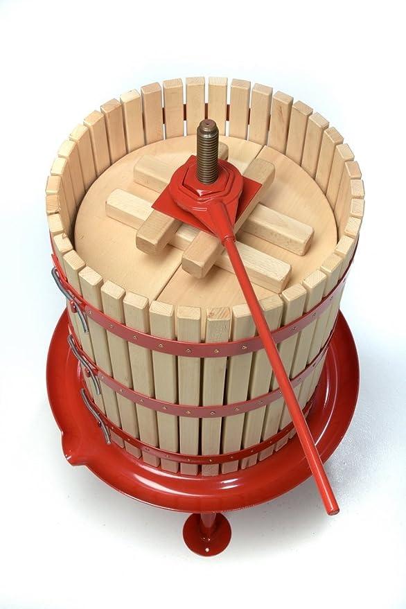 Prensa de frutas mecánica, sin electricidad, completamente desmontable, incluye tacos de prensa, prensa manual de vino, manzanas, mosto, hecha de madera, ...