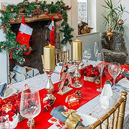 Traditional Christmas Table Decoration Set Up To 18 Guests Amazon
