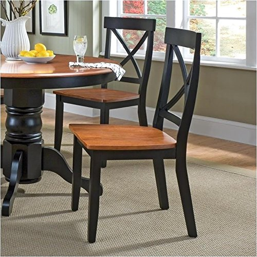 Home Styles 5168 802 Dining Chair Black And Cottage Oak Finish 18