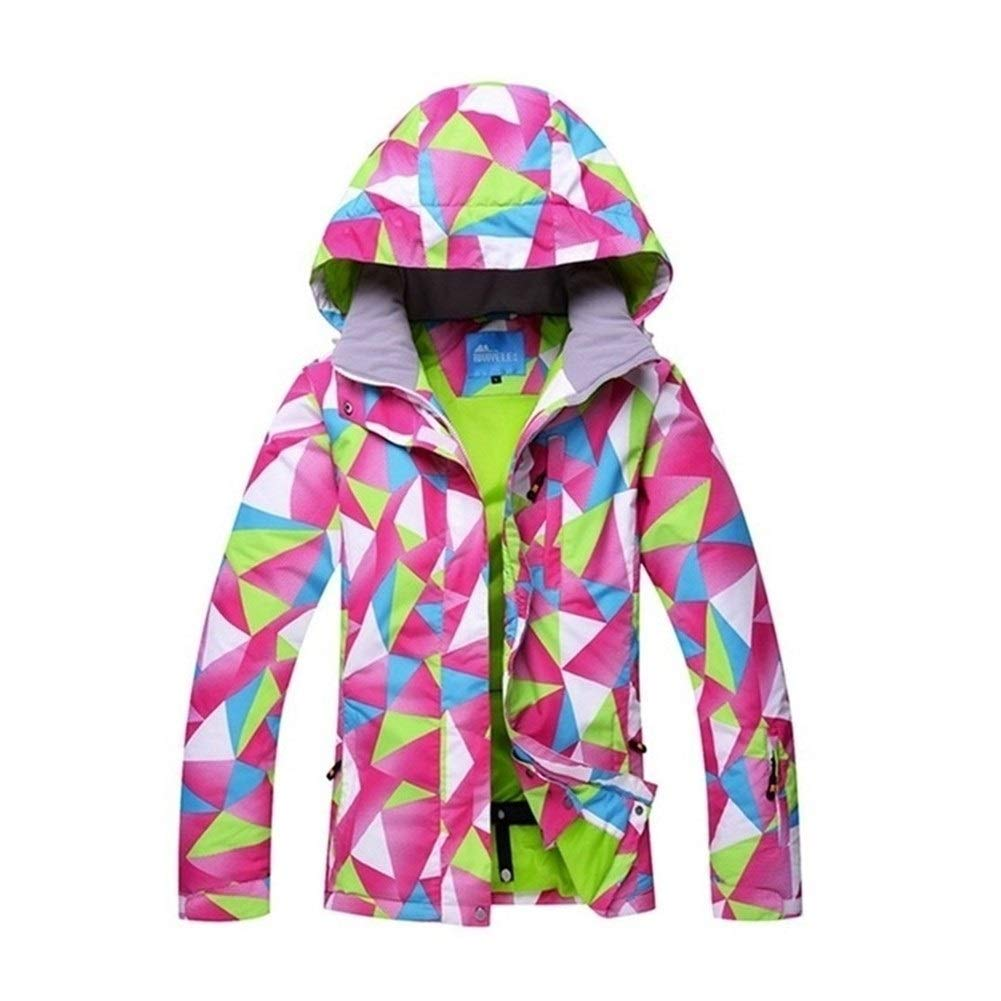 FELICIOO Frauen Skijacke Bunter Druck Snowboarding warme wasserdichte Winddichte Jacken Kleidung
