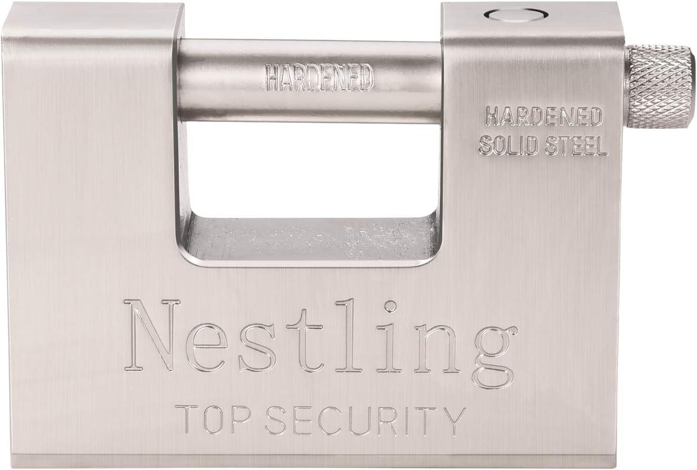 Nestling 5 Llaves 1.1 KG Rectangular Súper Resistente 20 '40' Contenedor Garaje Garaje Persiana Cadena Candado 94 mm Trabajo Pesado Alta Seguridad