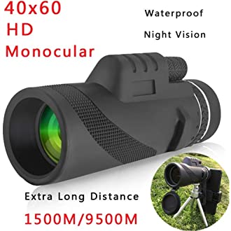 12X50 Telescope High Power HD Night Vision Compact Telescope for Sightseeing Camping and Bird Watching monocular Hunting LHQ-Binoculars Handheld Monocular Black Telescopes