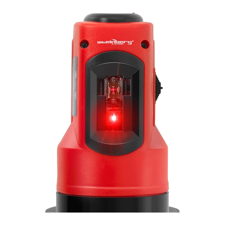 Port/ée 10 m, Tol/érance /±/0,5 mm//m, Tr/épied Steinberg Laser En Croix Niveau Autonivelant Automatique Rotatif Plaquiste SBS-LL-10