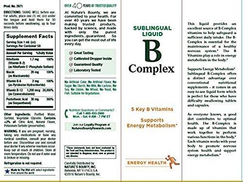 Complejo B con vitamina B12, sublingual líquida, 2 onzas líquidas (59 ml) (59 cc) - Obsequio de la Naturaleza: Amazon.es: Industria, empresas y ciencia