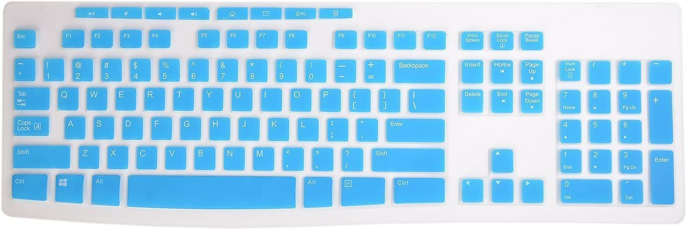 Ultra Thin Silicone Laptop Keyboard Cover Skin Protector for Logitech MK200 MK270 MK260 K200 K260 K270 Keyboard Semi Black Leze