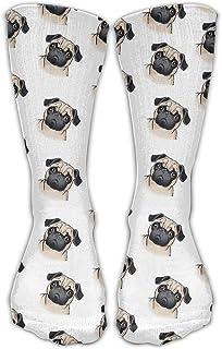 zengjiansm Calcetines Altos Cute Pug Pattern Unisex Crew Novelty Socks Ankle Dress Outdoor Socks Fits Shoe