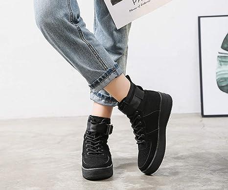 c47449d4d0df5 SHANGWU Zapatillas Altas para Mujer Zapatillas de Hip-Hop para Mujer  Zapatos de Chapado de Matorral Calzado Casual 2018 Nuevo Muffin Bottom de  Verano Rose ...