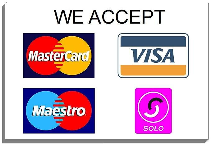 We Accept 5572 Visa Maestro Solo - Placa de crédito para ...
