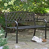 Coral Coast Crossweave Curved Back 4-ft. Metal Garden Bench Review