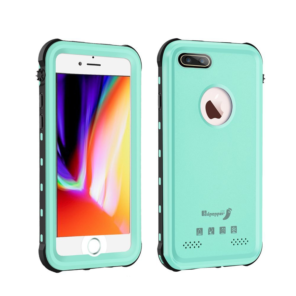 newest 9c3b7 30a9c iPhone 8 Plus Waterproof Case,Mangix Waterproof with Touched ID Transparent  Screen Protector Heavy Duty Protective Carrying Cover Case Includes Back ...