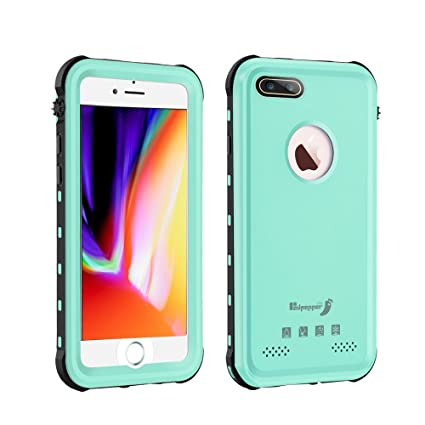 più recente 9bbc5 84e1e iPhone 8 Plus Waterproof Case,Mangix Waterproof with Touched ID Transparent  Screen Protector Heavy Duty Protective Carrying Cover Case Includes Back ...