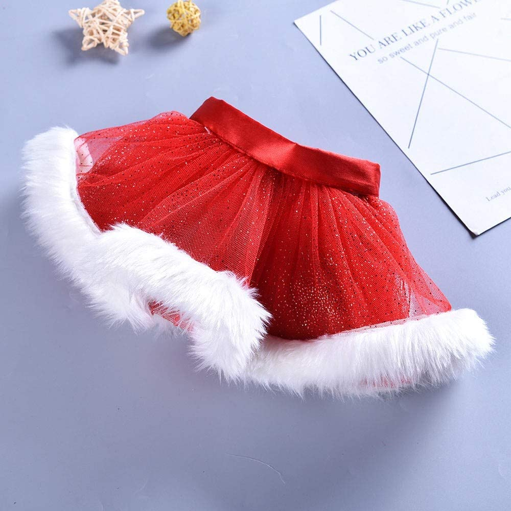 Hair Hoop Set Baby Girls Kids Christmas Tutu Ballet Skirts Fancy Party Skirt