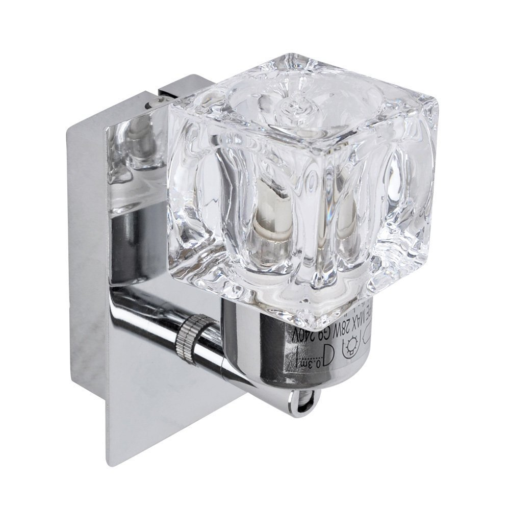 Modern silver chrome glass ice cube wall light amazon modern silver chrome glass ice cube wall light amazon lighting aloadofball Gallery