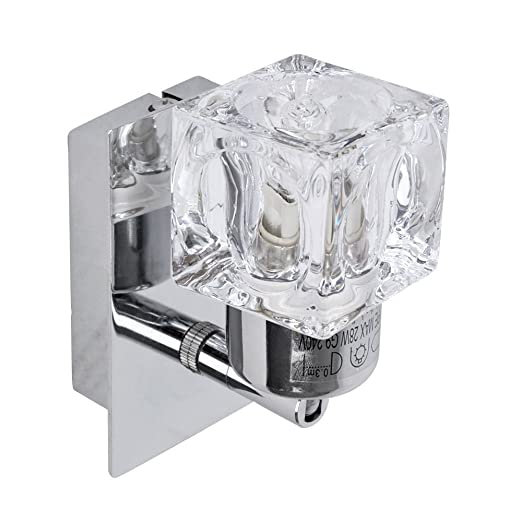 Modern silver chrome glass ice cube wall light amazon lighting modern silver chrome glass ice cube wall light aloadofball Image collections