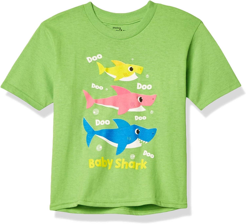 Pinkfong Boys' Toddler Baby Shark Doo Short Sleeve T-Shirt
