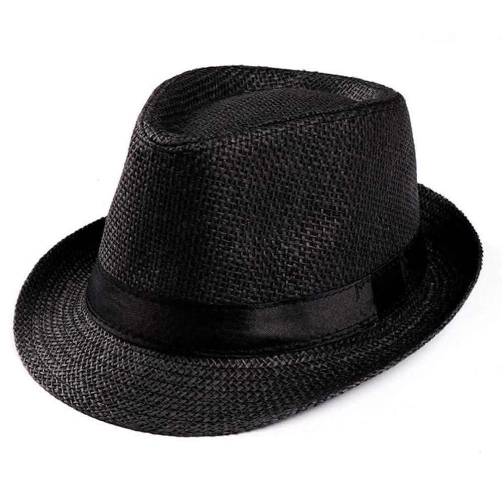 Unisex Fashion Wide Brim Straw Hat Classic Soft Cool Mesh Panama Hat Fedora Summer Beach Sunhat