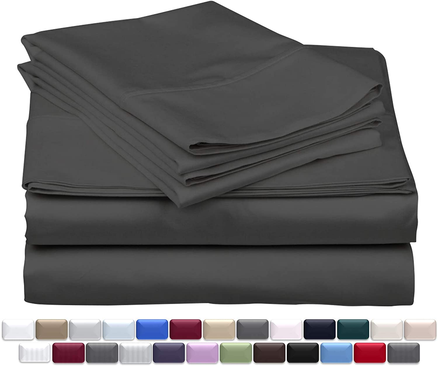 Soft Bedding Collection 1000TC Egyptian Cotton AU Queen Size All Solid Colors