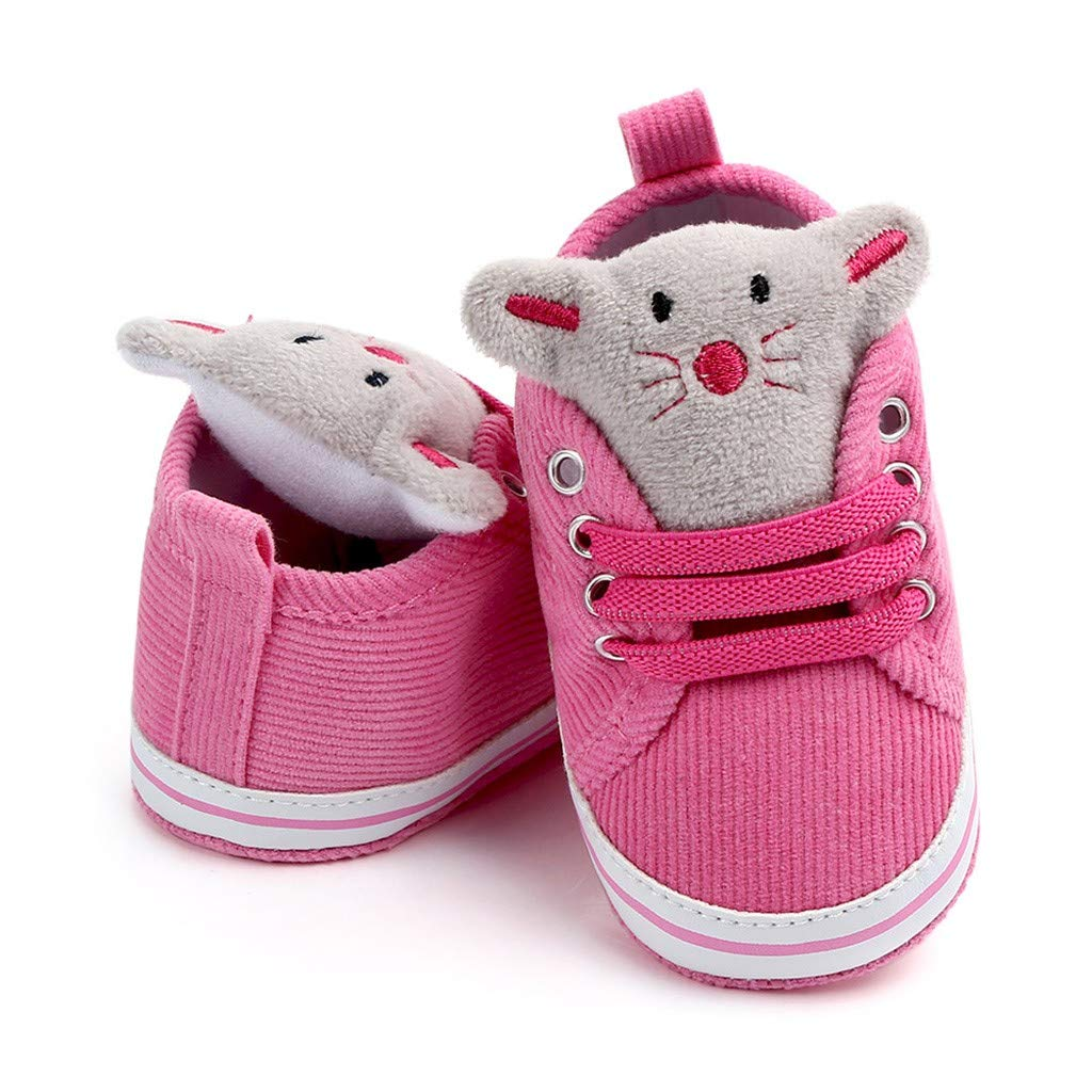 OCEAN-STORE Kid Hiking Shoes Breathable Slip Resistance Outdoor Walking Sports Fashion Casual Sneakers for Boys girlsHot Pink12-18 Months