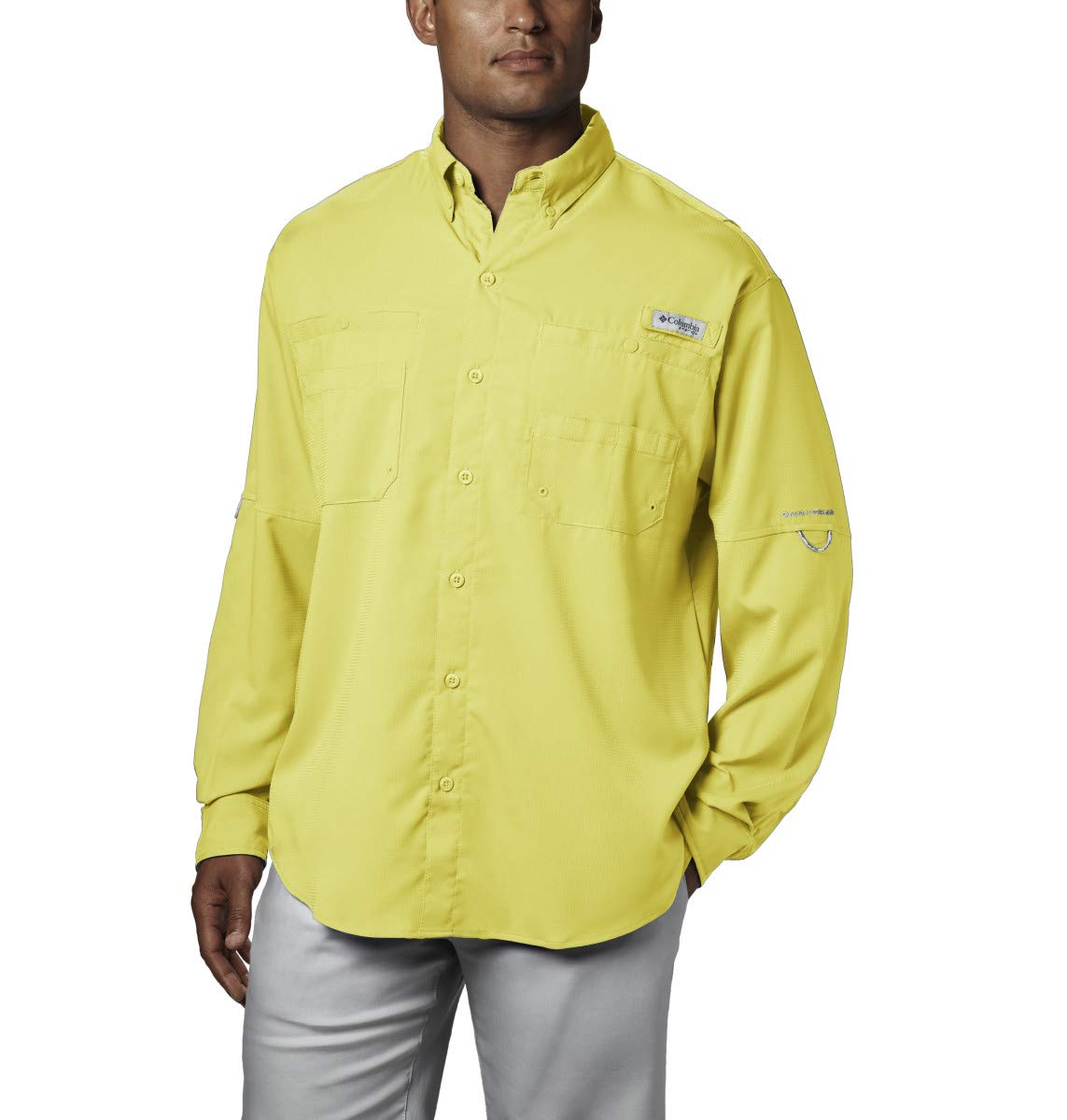 Columbia Men's PFG Tamiami II Long Sleeve Shirt - Big , Sunlit, X-Small