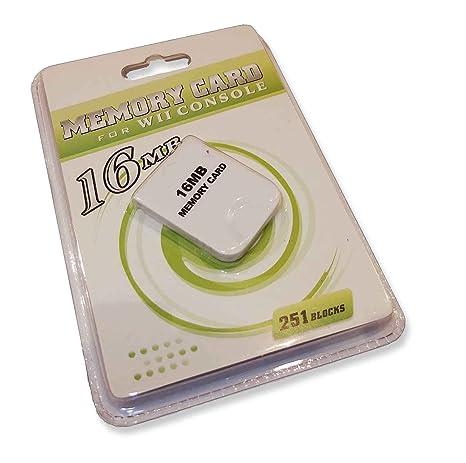 16 MB tarjeta de memoria blanco para Nintendo Wii y Gamecube ...