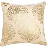Home- The best is for you-Gold Foil Printed Square Velvet Cushion Cover 16X16' or 40xm x 40xm